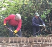 Churchyard Clearing now 10 March