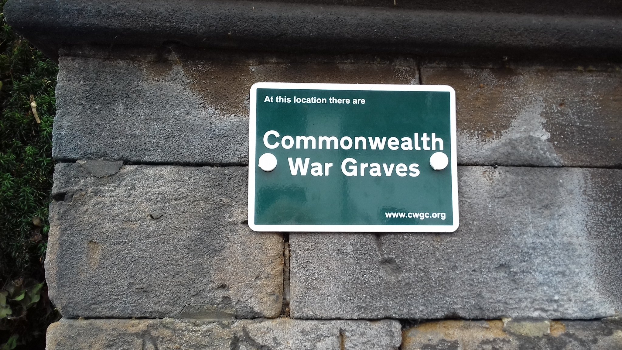 War Graves acknowledged